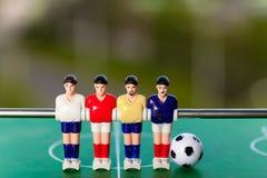 De sport van het voetbalvoetbalsters van de Foosballlijst teame Royalty-vrije Stock Afbeeldingen