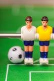 De sport van het voetbalvoetbalsters van de Foosballlijst teame Stock Afbeeldingen
