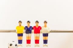 De sport van het voetbalvoetbalsters van de Foosballlijst teame Royalty-vrije Stock Foto