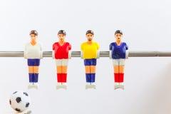 De sport van het voetbalvoetbalsters van de Foosballlijst teame Stock Afbeelding