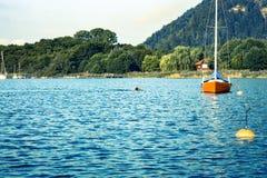 De sport van de waterochtend in landelijke aard stock foto's