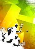 De sportachtergrond van het tennis Royalty-vrije Stock Afbeeldingen