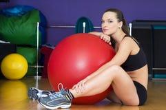 In de sportclub Stock Foto
