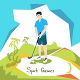 De Sportconcurrentie van de golfspeler vector illustratie