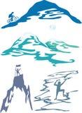 De sporten van de berg en activiteiten vectorillustratie Stock Fotografie