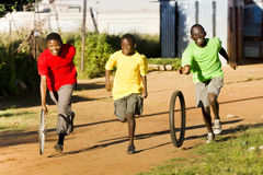 De Sporten van de gemeente - het Ras van de Band Stock Foto