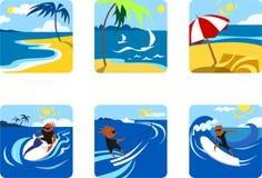 De Sporten van de zomer Stock Afbeelding