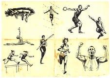 De sporten van de zomer Stock Foto's