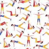 De Sporten van het trainingmeisje en Gezondheidszorgachtergrond royalty-vrije illustratie