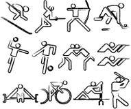 De sporten van Olimpic Stock Foto's