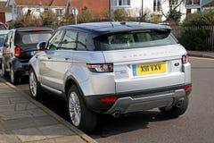 De sporten van Range Rover evoque Stock Foto's