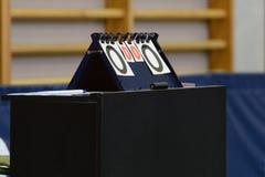 De sporten verzetten tegenzich voor pingpong Royalty-vrije Stock Foto's
