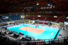 De sportenarena van het volleyball Stock Foto's