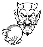 De Sportenmascotte van de duivelsveenmol stock illustratie