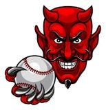 De Sportenmascotte van het duivelshonkbal royalty-vrije illustratie
