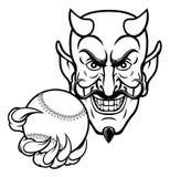 De Sportenmascotte van het duivelshonkbal stock illustratie