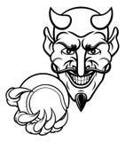 De Sportenmascotte van het duivelstennis stock illustratie