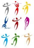 De sportensymbolen van de kleur Royalty-vrije Stock Fotografie