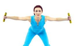 De sportenvrouw van de fitness Stock Foto's
