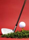 De sportieve en achtervolging van de Vrije tijd, golf - verticaal. Stock Foto