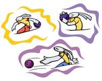 De sportillustraties van het konijntje Stock Foto's