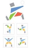De sportman van het pictogram Stock Fotografie