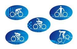 De sportpictogrammen van de fiets royalty-vrije illustratie