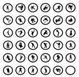 De sportpictogrammen van het Web Stock Foto's