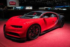 De Sportsportwagen van Bugatti Chiron stock foto