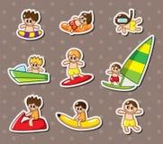 De sportstickers van het water Stock Foto