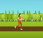 De sportvrouw stelt fitness meisjesjogging in werking Stock Foto's