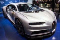 De sportwagen van Bugatti Chiron Royalty-vrije Stock Afbeeldingen