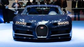 De sportwagen van Bugatti Chiron stock foto's