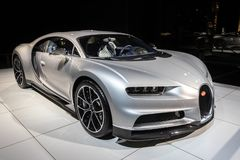 De sportwagen van Bugatti Chiron royalty-vrije stock fotografie