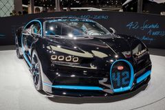 De sportwagen van Bugatti Chiron Stock Fotografie