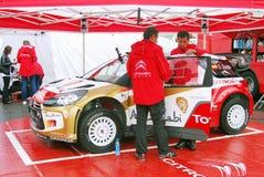 De sportwagen van Citroën bij de Stad van Moskou het Rennen Royalty-vrije Stock Afbeeldingen