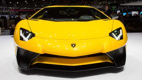 De sportwagen van Lamborghini Aventador LP 750-4 SuperVeloce Royalty-vrije Stock Foto's