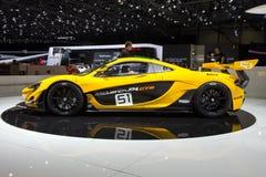 2015 de sportwagen van McLaren P1 GTR Stock Afbeelding