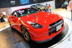 De Sportwagen van Nissan Gtr op Vertoning Stock Afbeeldingen