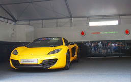 De sportwagen van Vodafone McLaren Mercedes Stock Afbeelding