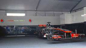De sportwagen van Vodafone McLaren Mercedes Royalty-vrije Stock Foto's