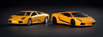 De sportwagens van het stuk speelgoed royalty-vrije stock fotografie