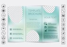 De spot van de Trifoldbrochure op vectorontwerp Vlot unfocused bokeh achtergrond Stock Afbeelding