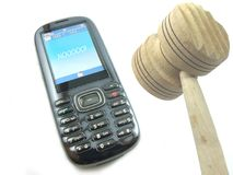 De sprekende Telefoon van de Cel? Stock Foto