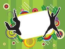 De springende Illustratie van de Sport Royalty-vrije Stock Foto's