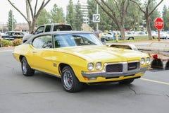 De Sprint klassieke auto van Pontiac Firebird op vertoning Stock Fotografie