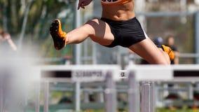 De sprint van hindernissen Stock Foto's
