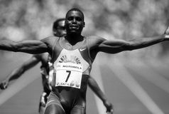 De Sprinter van Carl Lewis Track &Field Stock Fotografie