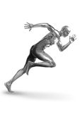 De Sprinter van Chromeman Royalty-vrije Stock Foto