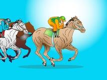 De sprintras van het paard Stock Afbeeldingen
